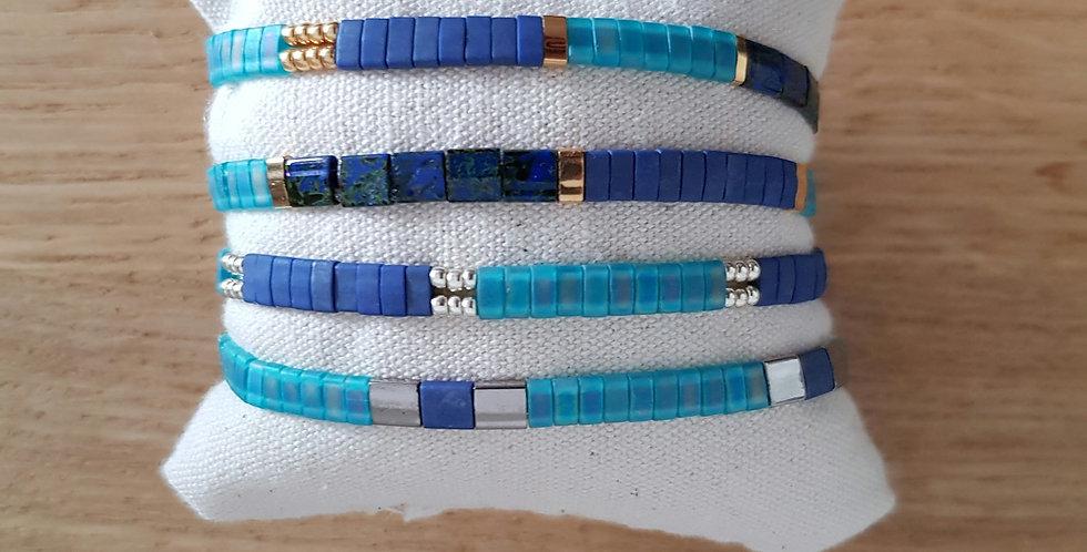 Bracelet Tila collection turquoise foncé