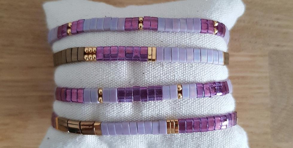 Bracelet Tila collection purple