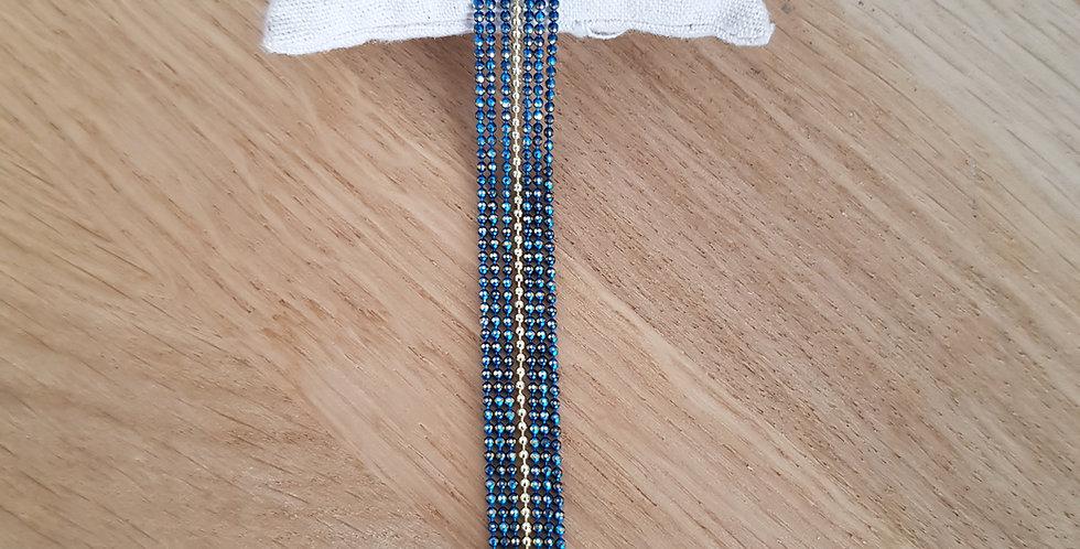Bracelet Bérénice - small - deep turquoise 2 & doré