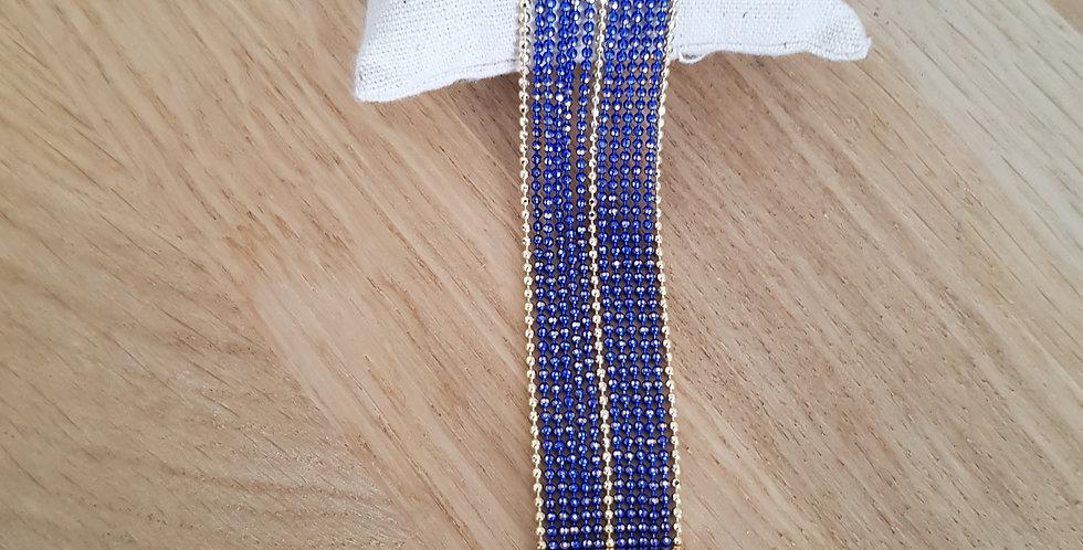Bracelet Bérénice - medium - deep blue & doré