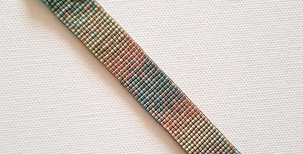 Bracelet montre style Poiray dégradé vert céladon