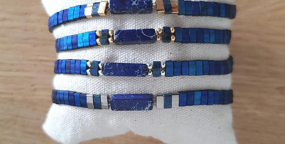 Bracelet Tila collection blue et pierre