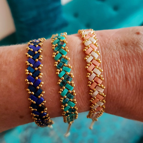 Bracelets Tila tissés