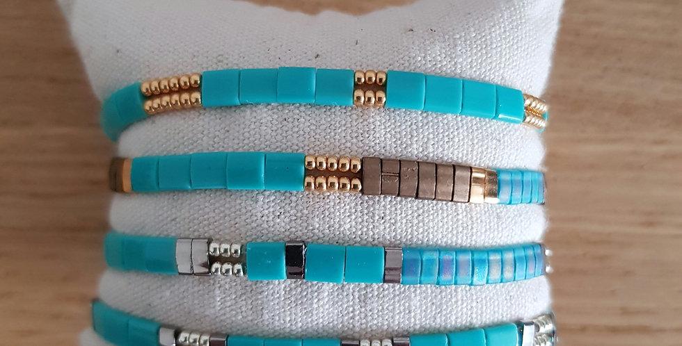 Bracelet Tila collection turquoise clair