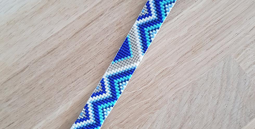 Bracelet montre Poiray version ethnic blue