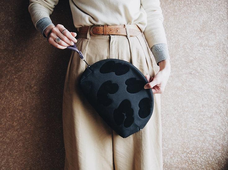 """LEOPATCH CLUTCH BAG """" L """" < black >【 受注生産 】"""