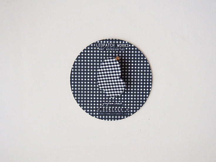 「 LEOPATCH ear accessory 」 ~ gingham check C ~ (片耳)