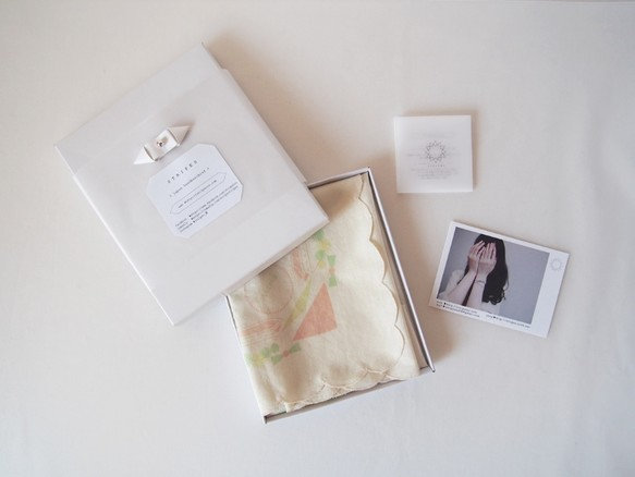 japan handkerchief ~beige ~