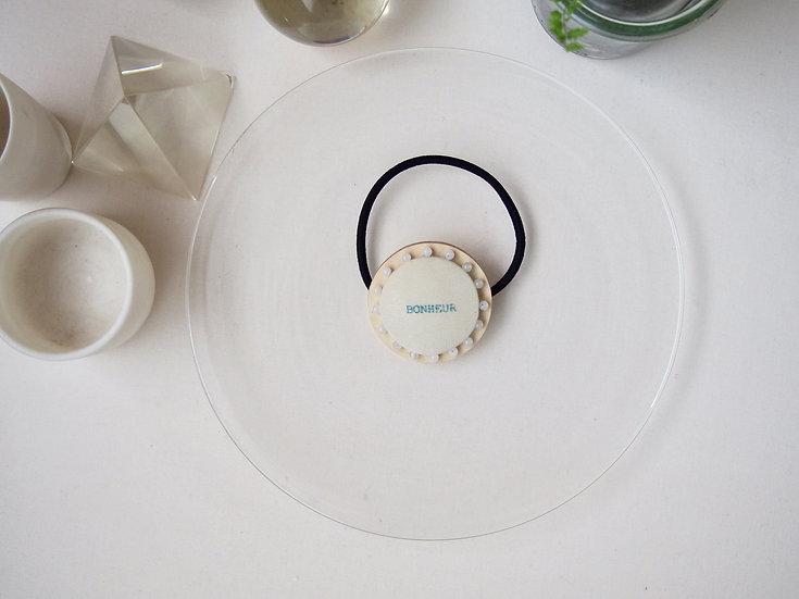 【SS size】 ivory × white jade ~ CIRCLE HAIR ELASTIC