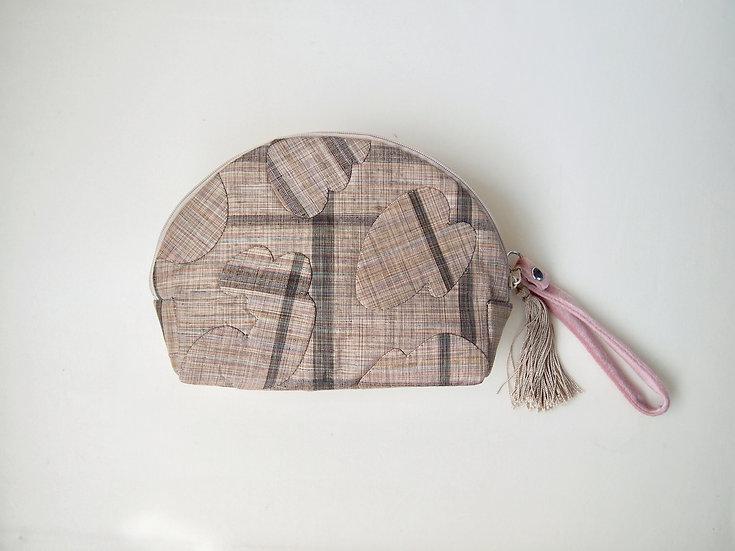 """LEOPATCH CLUTCH BAG """"S"""" < kimono fabric >"""