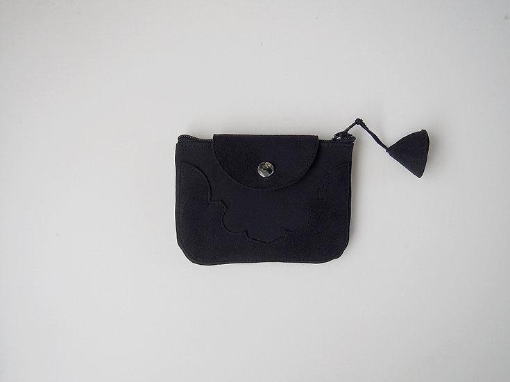 temple coin purse < black >