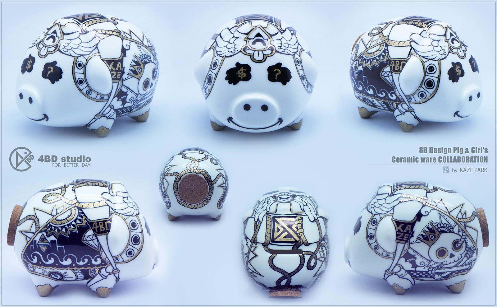 8B Design Pig & Girl's COLLABORATION