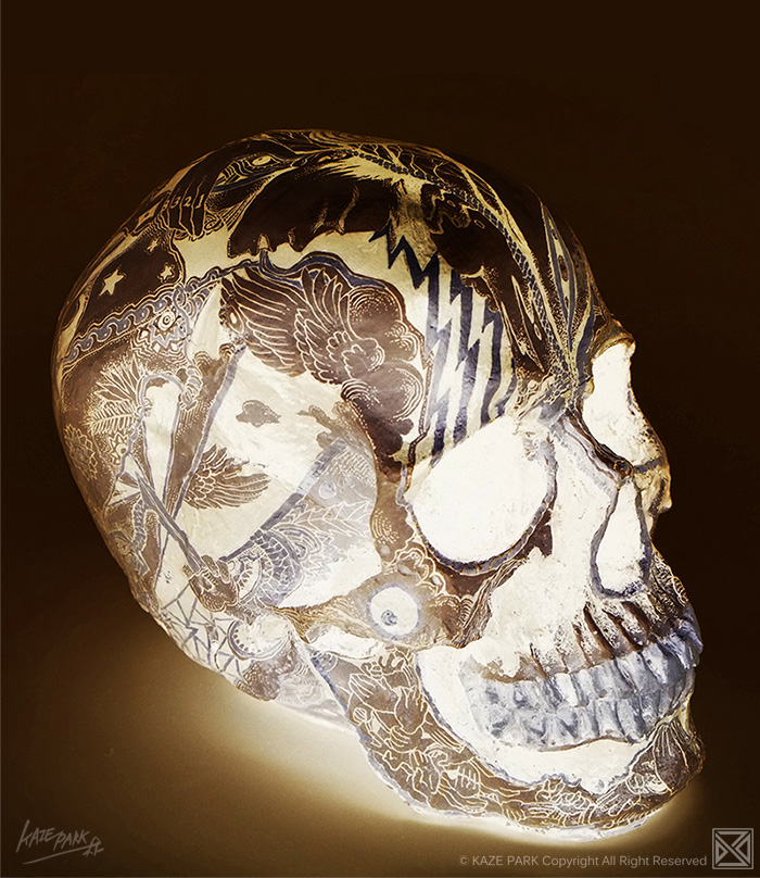 Light skull - GOLD