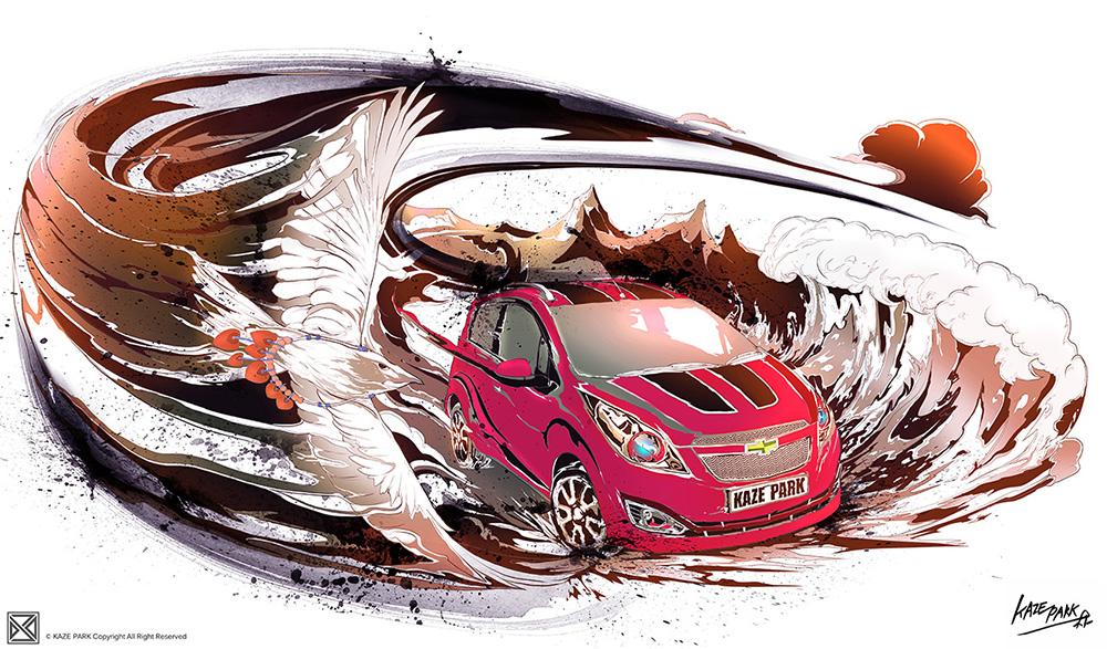 Chevrolet - SPARK (RED)