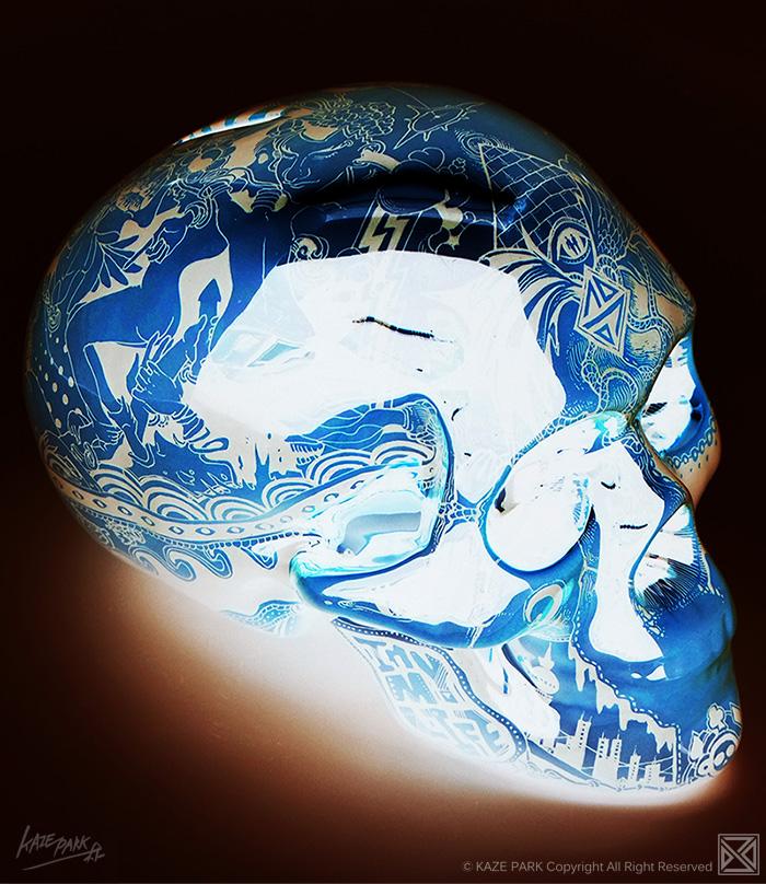 Light skull - BLUE