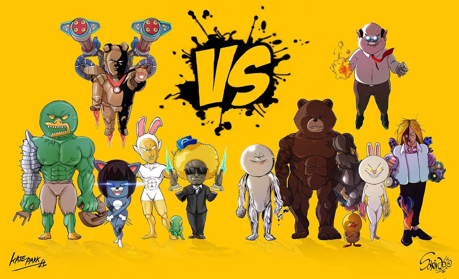 KAKAO vs LINE Characters