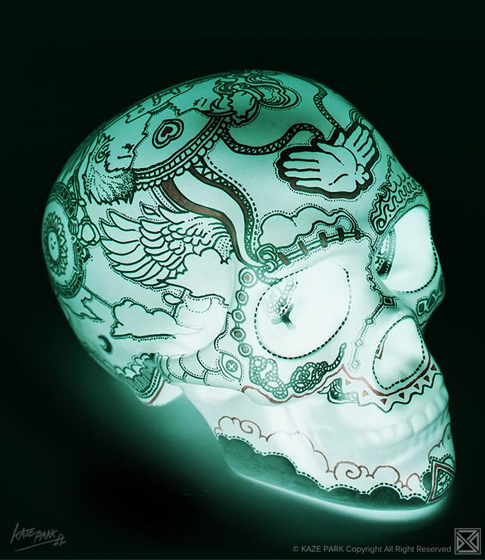 Light skull - GREEN