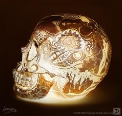 Light skull - GOLD2