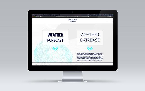 Terra Australis Incognita Website Landing Page