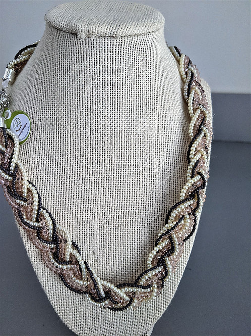 Vintage Braided Necklaces with Magnetic Clasp