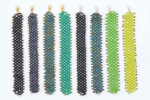Lattice Beaded Bracelets