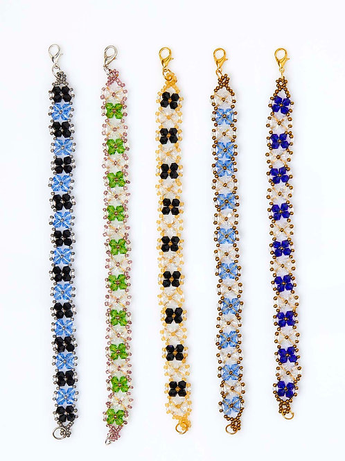 Serenity Crystals and Beads Bracelets