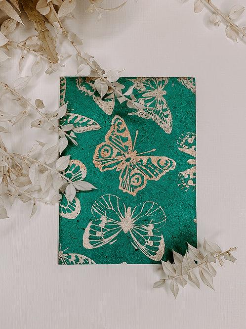 Butterfly Lokta Plant Notecard