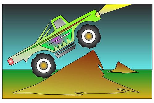 Monster Truckin' - 11x17