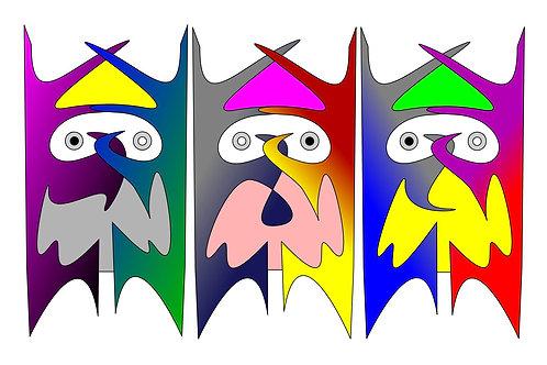 Three Wise Men - 11x17