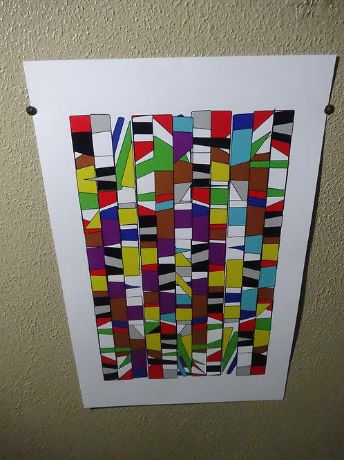 """'Modern Pattern' 10"""" x 16"""""""