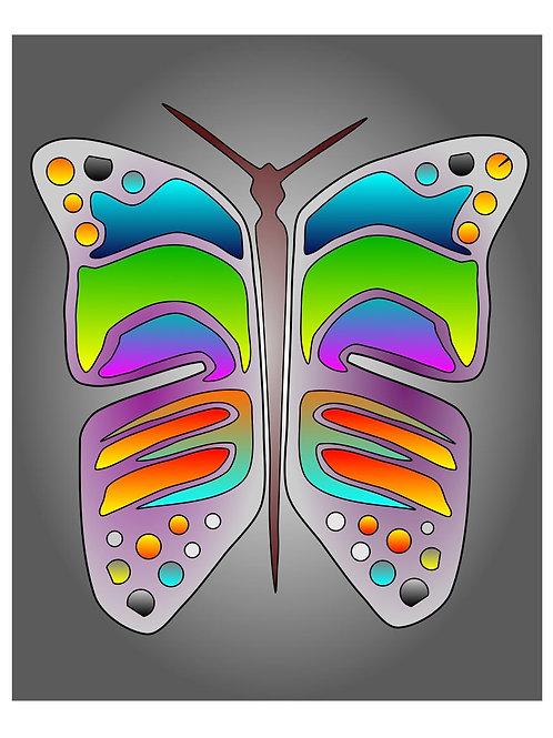 Butterfly Mask - 11x17