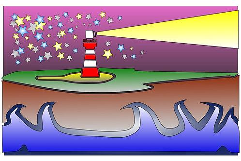 Lighthouse #1 - 11x17