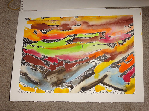 """'End of the World' 15"""" wide x 11"""" tall"""