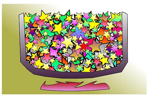 Simmering Stars - 11x17