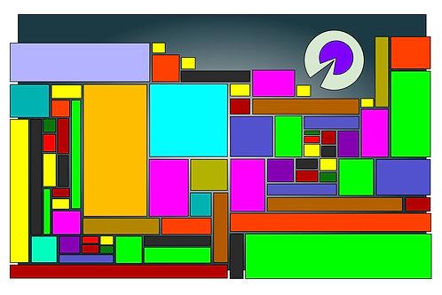Circles Eat Squares - 11x17