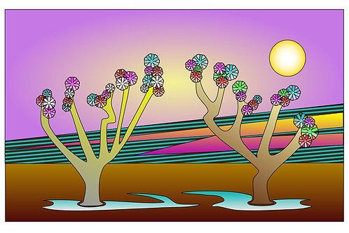 Desert Moon - 11x17