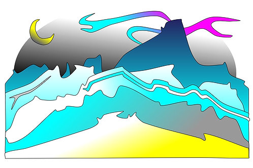 Midnight Glacier - 11x17