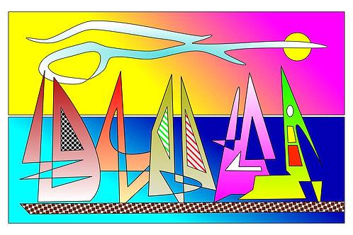 Sailboat Sunset - 11x17