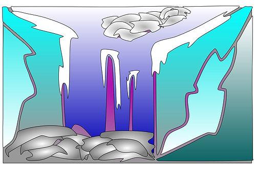 Frozen Waterfall - 11x17