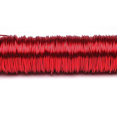 """חוט שזירה ממתכת מצופה בצבע מטלי בעובי 0.3 מ""""מ מארז 100 גרם תוצרת גרמניה"""