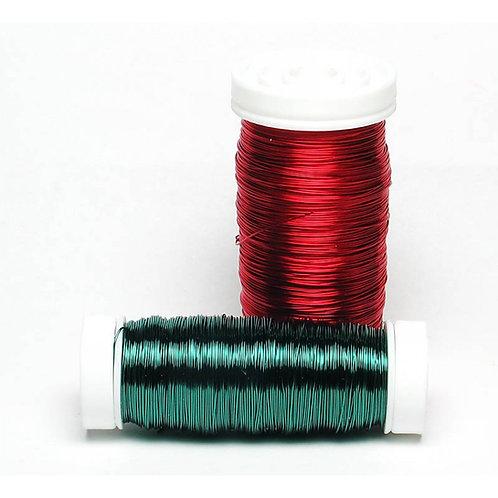 """חוט שזירה ממתכת מצופה בצבע מטלי בעובי 0.5 מ""""מ מארז 100 גרם תוצרת גרמניה"""