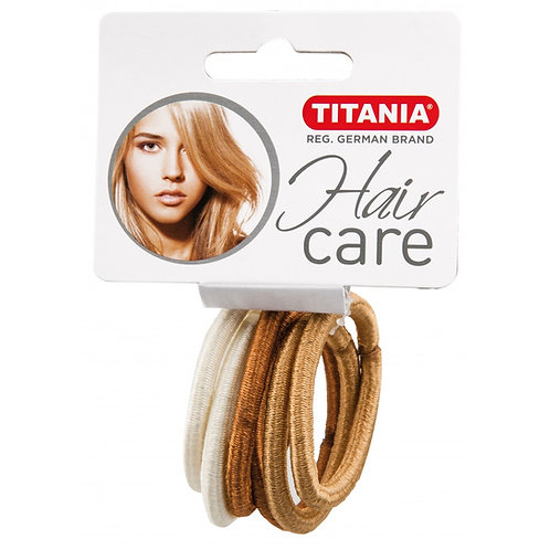 סט גומיות בצבע זהב ופנינה מטאלי לשיער