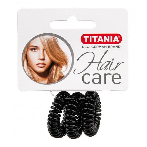 סט גומיות שחורות קטנות ספירלה לשיער
