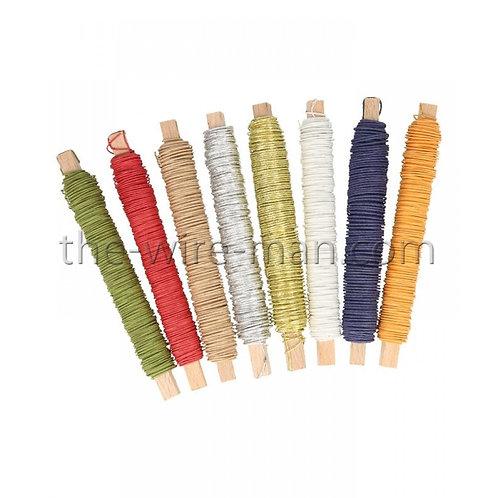 חוט ברזל מצופה בנייר צבעוני בשלל צבעים