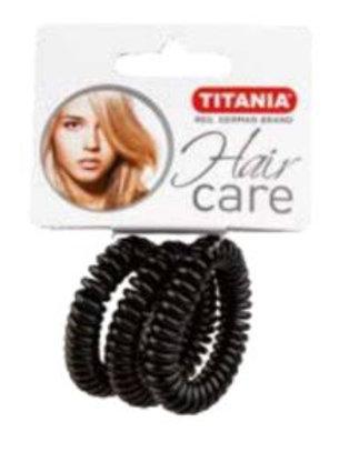 סט גומיות שחורות ספירלה גדולות לשיער