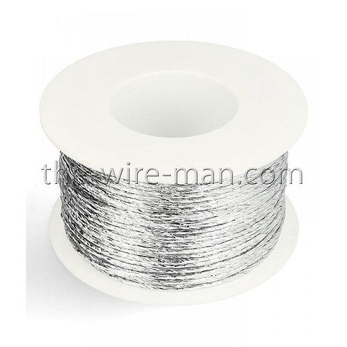 חוט ברזל עטוף נייר מטאלי בצבע כסף