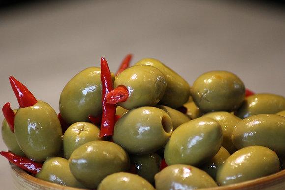 Olive fourré au piment (200g)