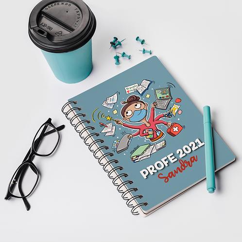 Cuaderno personalizado PROFE CHICA