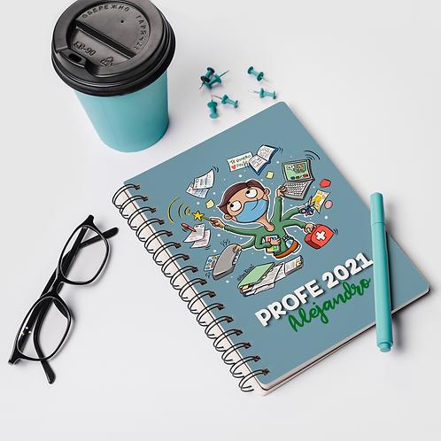 Cuaderno personalizado PROFE CHICO
