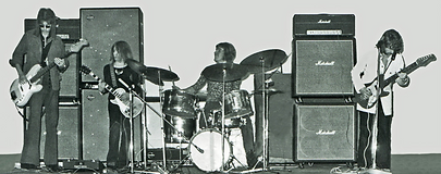 At A gig in1972 after Dark Round The Edges